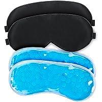 WEYN Augenmaske Schwarz Gel, Schlafmaske Kälte/ Wärmetherapie für Schlaflosigkeit, geschwollene Augen und Augenringe... preisvergleich bei billige-tabletten.eu