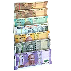 Rupees of different denominations are printed and laminated to look like real money. It focuses on the tactile reinforcement of counting, borrowing and breaking up into smaller denominations. Play money also exposes young learners into understanding ...