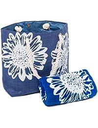 Las señoras 2 Piezas Paquete de Viaje - Floral Bolsa de Playa - Toalla de Playa