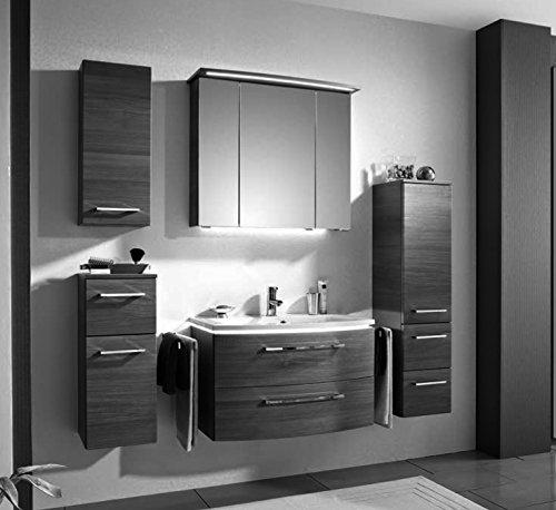 PELIPAL Lunic 3 tlg. Badmöbel Set / Waschtisch / Unterschrank / Spiegelschrank inkl. LED / Comfort N
