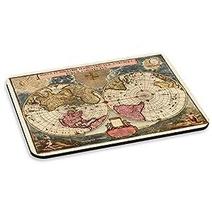 Mapa del viejo mundo VINTAGE 4 pc alfombrilla de ratón almohadilla redonda Retro Mazda – globos