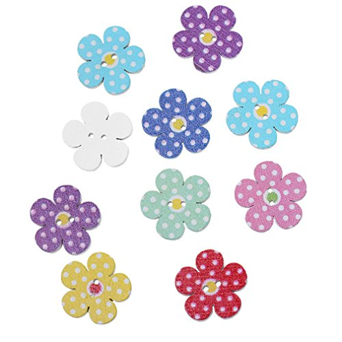 souarts-mixed-random-flower-shape-2-holes-wooden-buttons-for-sewing-crafting-pack-of-100