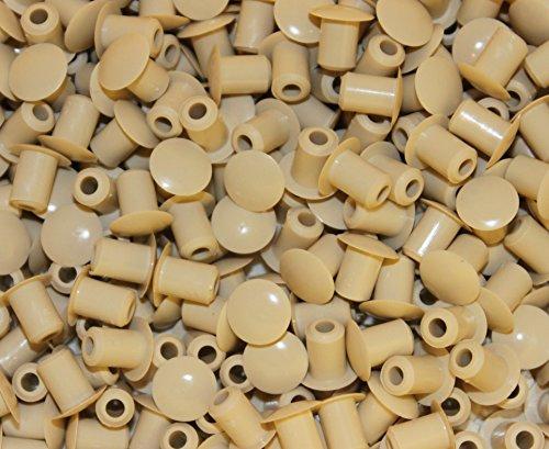 Abdeckung Creme (10 Stück Stopfen 5mm(Loch) x 8mm (Abdeckung), Creme, Hartplastik)