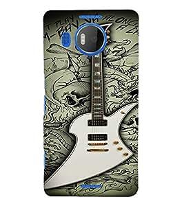PrintVisa Music Guitar Quotes 3D Hard Polycarbonate Designer Back Case Cover for Nokia Lumia 950 XL