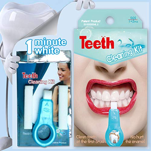 Pro Nano Teeth Whitening Kit,Allouli Stains And Plaque Remover Natural Teeth Whitener System Tool Kit Without Hurting the Enamel(1 Clean Teeth Wipe + 2Nano Cleaners)