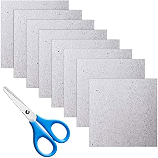 9 Pieces Waveguide Cover Mica Plates Sheets Microwave Oven Repairing Part 13 x 13 cm with Scissor for Home Appliances