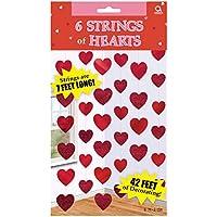 Amscan International Deko-Herzen Candy String