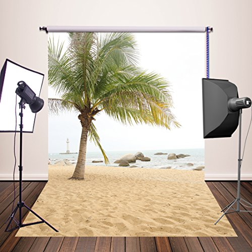 HuaYi Fotografie Hintergrund 150 x 220 cm Vintage Kulissen Professional Photo Hintergrund Fotograf Studio Requisiten Sea Beach Theme Yj-323
