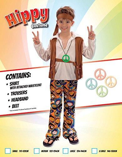 Imagen de disfraz de niño hippy de los años 60 y 70. 6  9 años alternativa