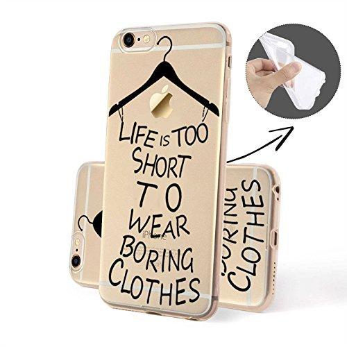 FINOO | Silikon-Handy-Case für iPhone 5 / 5S | weiche, transparente, flexible Silikon-Handy-Hülle mit verschiedenen modernen Motiven für Apple Smartphone | Buntes Rehkitz Boring Clothes SILIKON