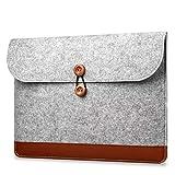 Carriea MacBook Air 13.3 Zoll Filz Sleeve Hülle Ultrabook Laptop Tasche für 13'' MacBook Pro/MacBook Air 13/ Pro Retina/ 12,9 Zoll iPad Pro Hülle Grau