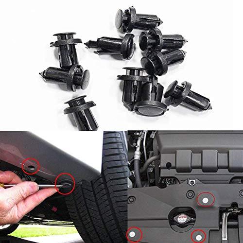 sourcingmap 20Pcs Universal Noir Trou 7 mm rivets plastique fixation panneau clip retenue