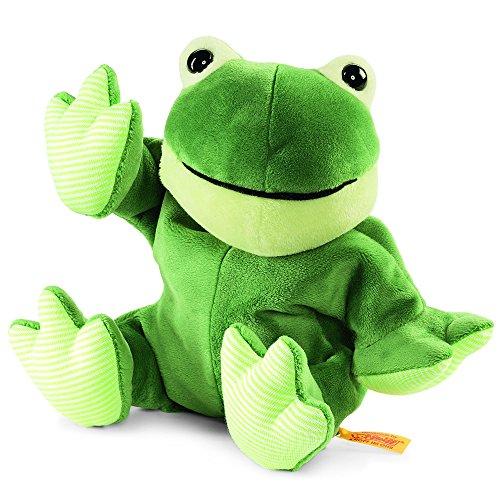 Preisvergleich Produktbild Steiff 239120 - Cappy Frosch Wärmekissen, Plüschtier, 22 cm, grün
