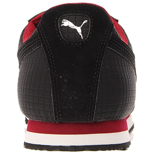 Puma Roma Quilted Synthétique Baskets Black-Rio Red