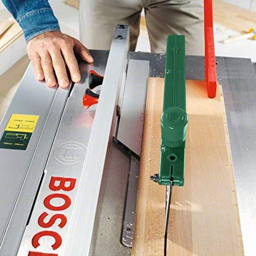 Bosch DIY Tischkreissäge PTS 10, Spaltkeil, Tischverlängerung, Winkelanschlag, Absaugschlauch, Karton (1400 W, Kreissägeblatt Nenn-Ø  254 mm, Schnitttiefe bei 90° 75 mm) - 4