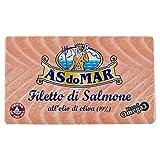 Asdomar - Filetto Di Salmone, All'Olio Di Oliva 19% - 5 pezzi da 115 g [575 g]