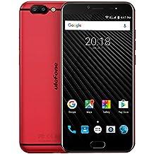 Ulefone T1 -Android 7.0 FHD Pantalla 5.5 pulgadas Unlocked Smartphone Helio P25, 6GB RAM + 64GB ROM, Triple cámaras (13MP + 5MP + 16MP), GPS, teléfono de doble SIM
