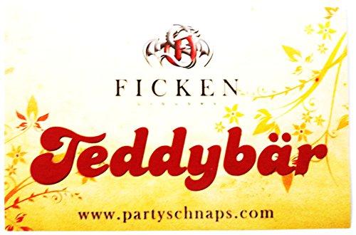 Ficken Likör - Verschiedene Aufkleber (Sortiert) mit Sprüchen 85 x 55 mm (Teddybär)