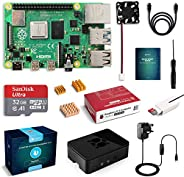 LABISTS Raspberry Pi 4 B Model B 4GB Starter Kit Motherboard 32GB SD Card Preloaded with NOOBS, Cooling Fan, 5