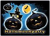 Einladungskarten zu Halloween 12-er Set gruselige Halloweenparty Einladungen Kindergeburtstag zum Geburtstag Party Kürbis Einladung Erwachsene Kinder Sarg