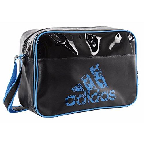 Adidas Schultertasche Leisure Messenger mit Schultergurt L BLACK-SOLAR BLUE