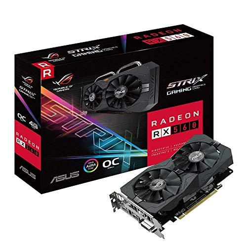 ASUS ROG Strix Radeon RX 560 16CU O4GB Gaming OC Edition GDDR5 DP HDMI DVI AMD Grafikkarte (ROG-STRIX-RX560-O4G-GAMING) -