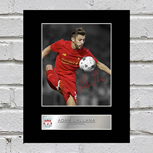 Adam Lallana Signed Mounted Photo Display Liverpool FC