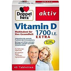 Doppelherz Vitamin D 1700 I.E. Tabletten/Nahrungsergänzungsmittel mit Vitamin D zur Unterstützung der normalen Funktion des Immunsystems/1 x 45 Tabletten