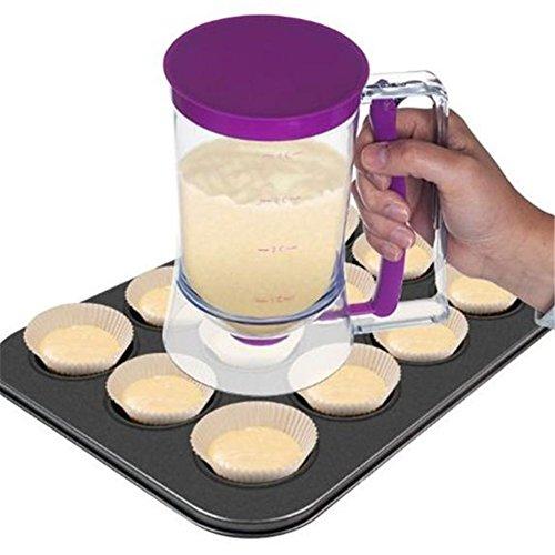 VWH Pfannkuchenteig Dispenser Perfekt für Backen von Kuchen, Waffeln, Kuchen, Muffin-Mischung, Crepes, Donuts oder Any Backwaren - Bakeware Maker mit Mess