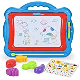 NextX Big Size Magnetic Drawing Board Toys for 3+ year old kids Megasketcher Doodle Educational Toys gift set with 5 Shape Stamps and Lovely Sticker