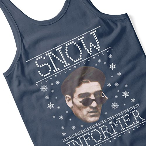 Snow Informer Christmas Knit Men's Vest Navy Blue