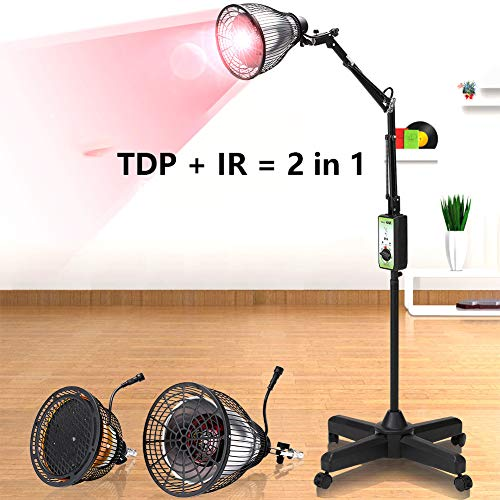 RZH Elektromagnetische Welle + Infrarot-Therapie-Instrument, Instrument Mit Doppeltem Verwendungszweck, Konvertieren Sie Lampenköpfe Zueinander, Praktisch (TDP + Infrarot)