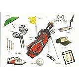 Golf Zubehör Sport & Hobby jeden Anlass Grußkarte, blanko