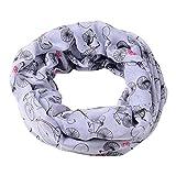 Amphia - Damen Mode Schöne Gestickte Baumwolle Leinen Floral Wrap Schals Schals,Verschlüsseltes Bali-Garn, um den warmen Schal zu erhöhen(Gray)