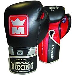 Montana Punch 3 Gants de Boxe Mixte Adulte, Noir, 12 oz