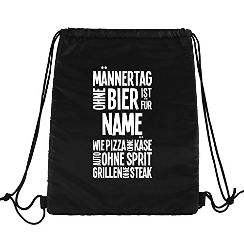 Lustapotheke® Kühltaschen-Rucksack mit Namensufdruck und lustigen Motiven - für verschieden Anlässe Männertag ohne Bier