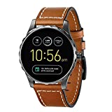 Aimtel For Fossil Q leather Band,Adjustable Replacement Sport Replacement 22mm Wristband Strap Bands For Fossil Q Smartwatch (FQ-Brown)