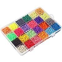Craft beads, 3600 Pcs beads, 24 Colores beads Para Niños Juguetes Educativos
