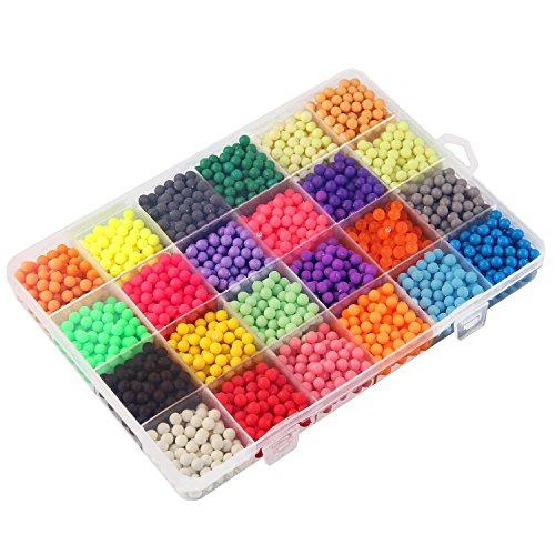 Aquabeads/Abalorios Cuentas de Agua 3600 Perlas 24 Colors/Hama Beads/para Niños Niños DIY Artesanía Juguetes Educativos DIY (C)