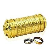 QZBAOSHU Retro Da Vinci Code Sperren Valentinstag Geburtstag Geschenk mit Herr der Ringe Boxen und Taschen Verpackung (Gold)