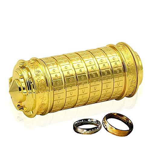 QZBAOSHU Rétro Da Vinci Code Verrouillage Saint-Valentin journée Anniversaire Cadeau avec Seigneur de la Anneaux Exquis Cadeau Boîtes et Des sacs Emballage (Or) Pdf - ePub - Audiolivre Telecharger