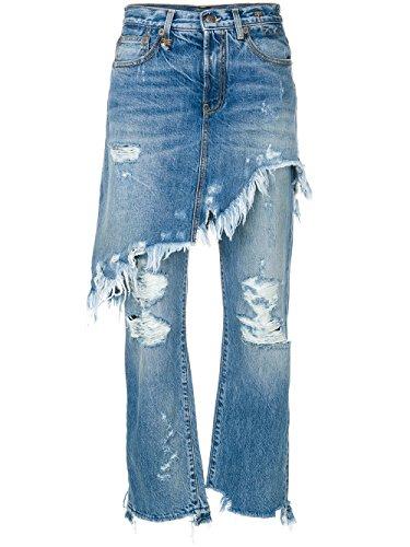 R13 Femme R13W0195149 Bleu Claire Coton Jeans R13