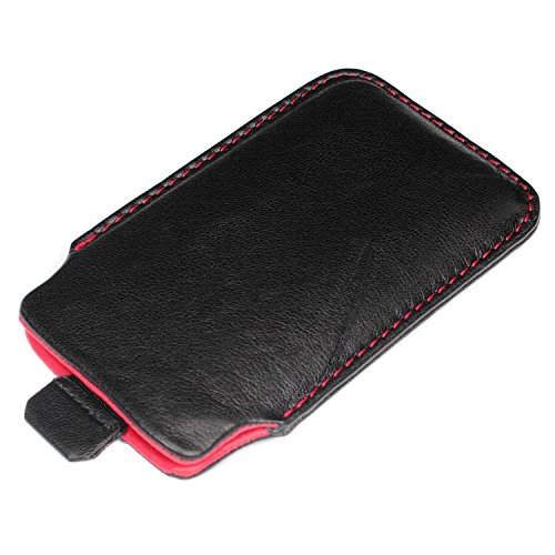 "deinPhone Apple iPhone 6 6S (4.7"") SILIKON CASE Hülle deinPhone Eule Ledertasche Schwarz Rot"