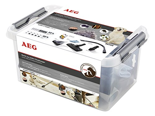 AEG AKIT09 Erweiterungs-Set Allergy & Animal Care für 32mm Rundrohrsauger, Polsterdüse, Flexible Fugendüse, Möbelpinsel, Mini-Turbo-Düse -
