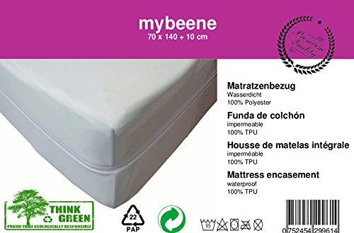 mybeene® Matratzenbezug in Verschiedenen Größen mit Reißverschluss | atmungsaktiv | trocknergeeignet | Unter-Bett | Matratzen-Auflage | Schonbezug |Matratzenhülle | Matratzenüberzug (70x140x10)