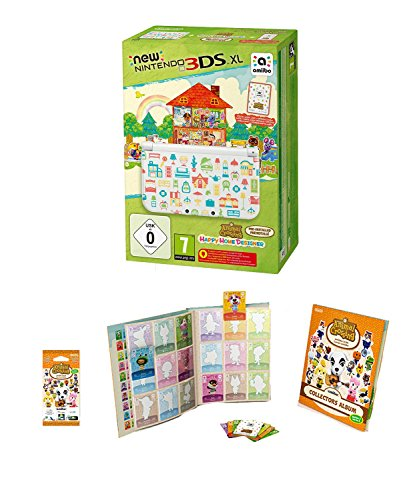 New Nintendo 3DS XL - Konsole (Special Edition) + Animal Crossing: Happy Home + amiibo Karten Animal Crossing Sammelalbum 2 inkl. 3 Karten + Animal Crossing amiibo-Karten Pack (Serie 2) (3ds Xl Konsole Limited Edition)