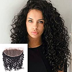 Ear to Ear Lace Frontal Curly Closure 13x4 Free Part With Baby Hair Unprocessed Brazilian Virgin Hair (12 frontal)