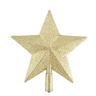 Chytaii Estrella para Árbol de Navidad 15 cm,Paquete de 1