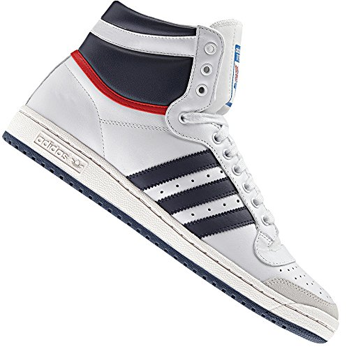 adidas Top Ten Hi Sneaker D65161 White/Navy/Red EUR 40 (UK 6,5)