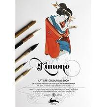 Libro de Artistas de Colorear PEPIN KIMONO DESIGNS 16 Diseños Mandala 7067 8062